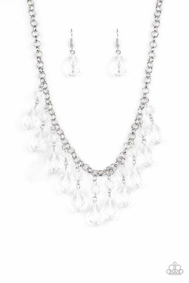 Crystal Enchantment - White - Paparazzi Necklace Image