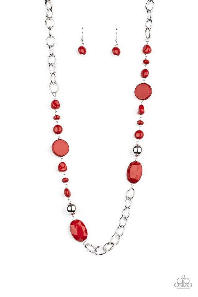 When I GLOW Up - Red - Paparazzi Necklace Image