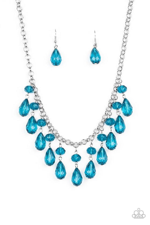 Crystal Enchantment - Blue - Paparazzi Necklace Image
