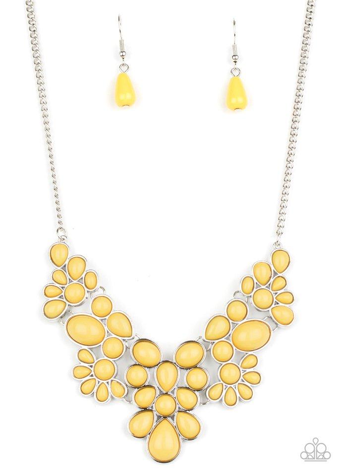 Bohemian Banquet - Yellow - Paparazzi Necklace Image