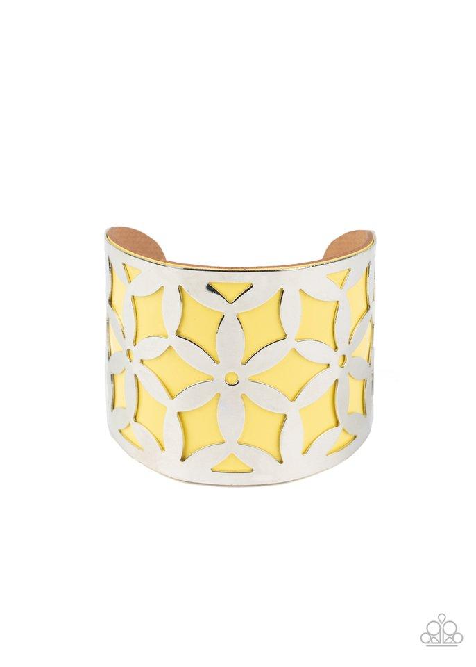 Garden Fiesta - Yellow - Paparazzi Bracelet Image