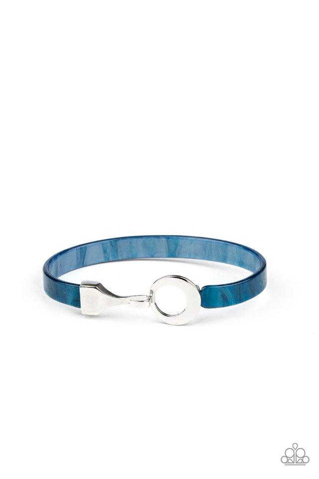 HAUTE Button Topic - Blue - Paparazzi Bracelet Image