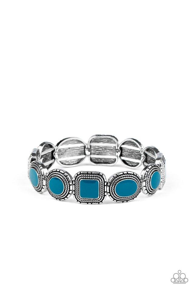 Vividly Vintage - Blue - Paparazzi Bracelet Image