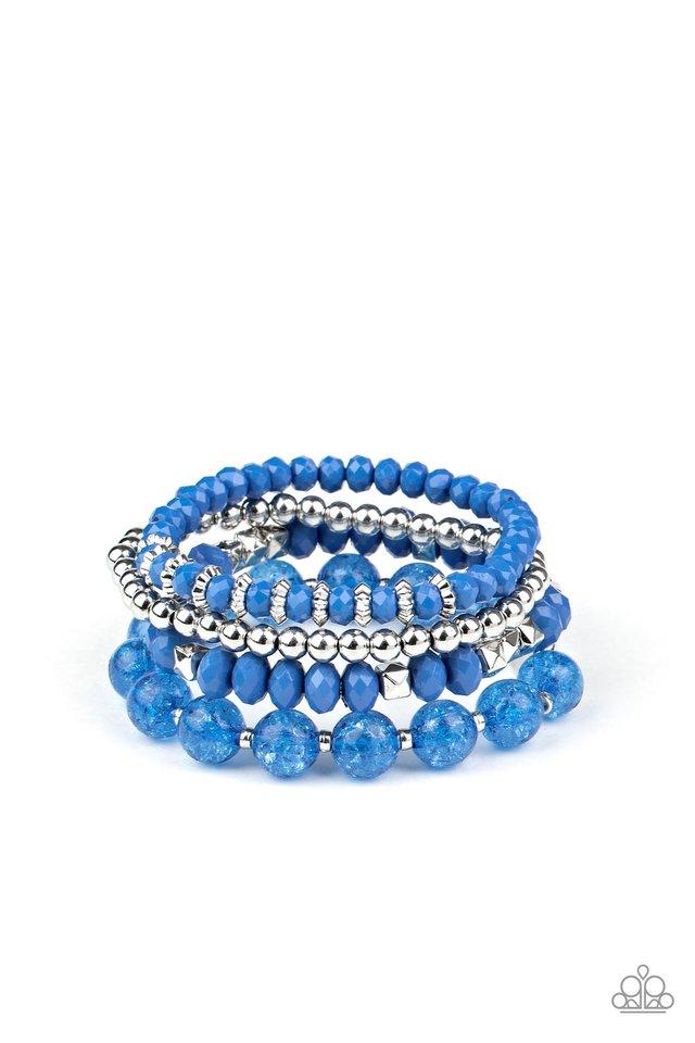 Layered Luster - Blue - Paparazzi Bracelet Image