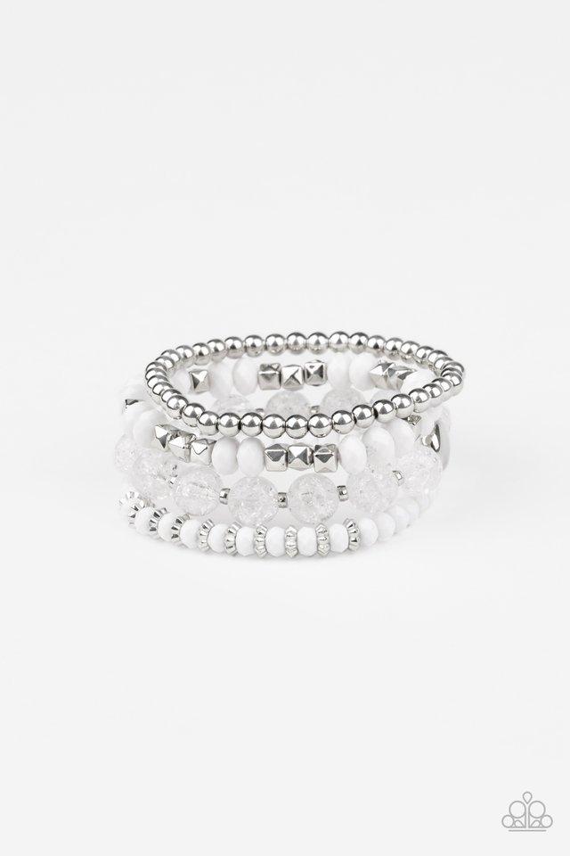 Layered Luster - White - Paparazzi Bracelet Image