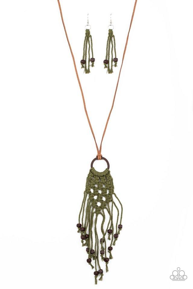 It's Beyond MACRAME! - Green - Paparazzi Necklace Image