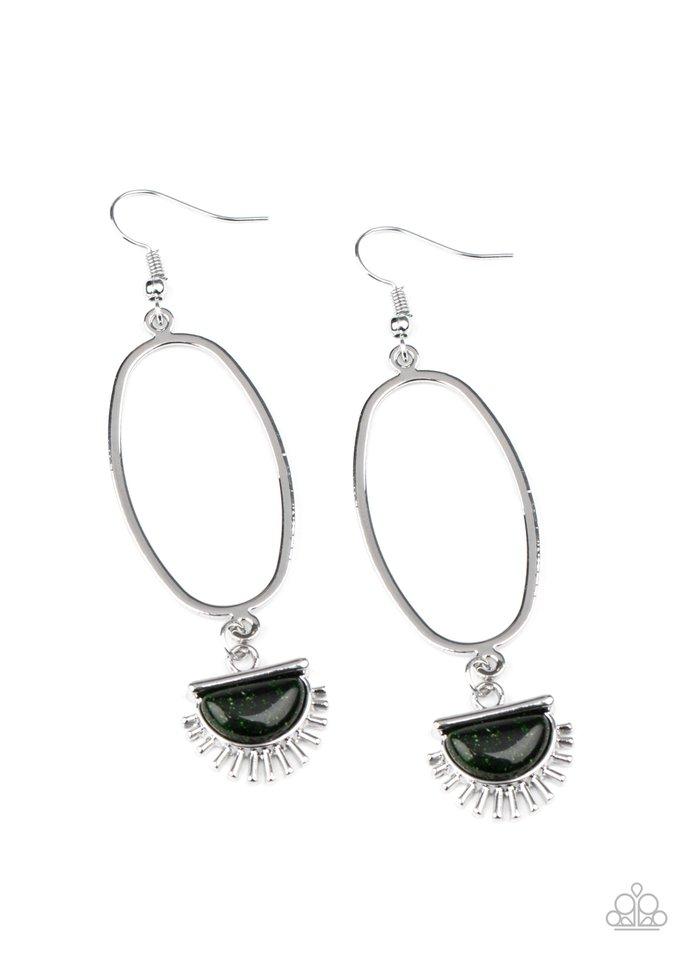 SOL Purpose - Green - Paparazzi Earring Image