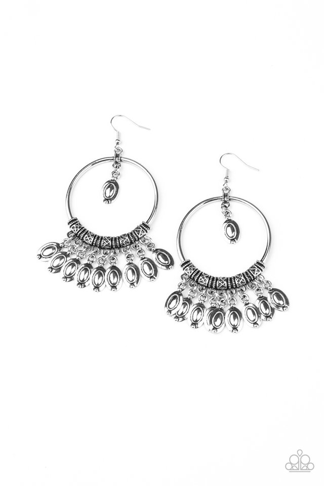 Metallic Harmony - Silver - Paparazzi Earring Image