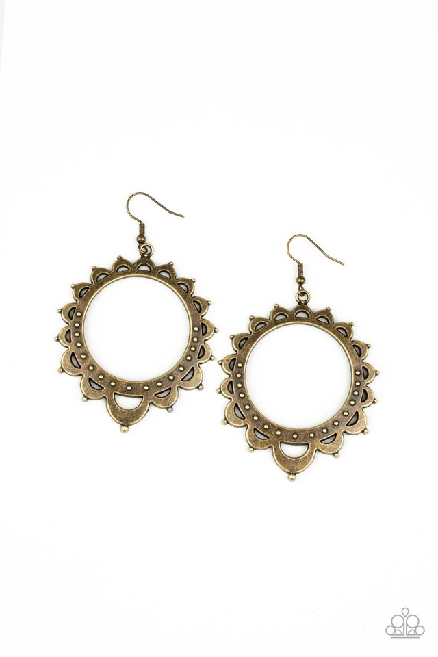 Casually Capricious - Brass - Paparazzi Earring Image
