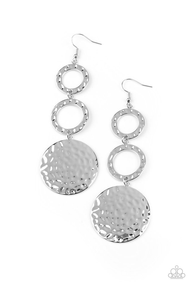 Blooming Baubles - Silver - Paparazzi Earring Image