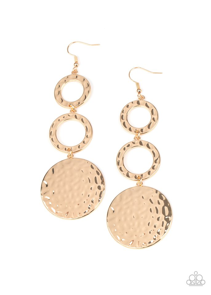 Blooming Baubles - Gold - Paparazzi Earring Image