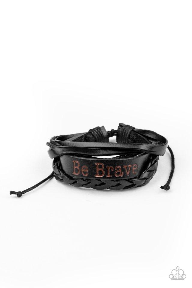 Brave Soul - Black - Paparazzi Bracelet Image