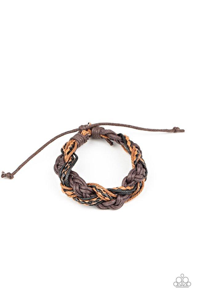 Badlands Wanderer - Brown - Paparazzi Bracelet Image