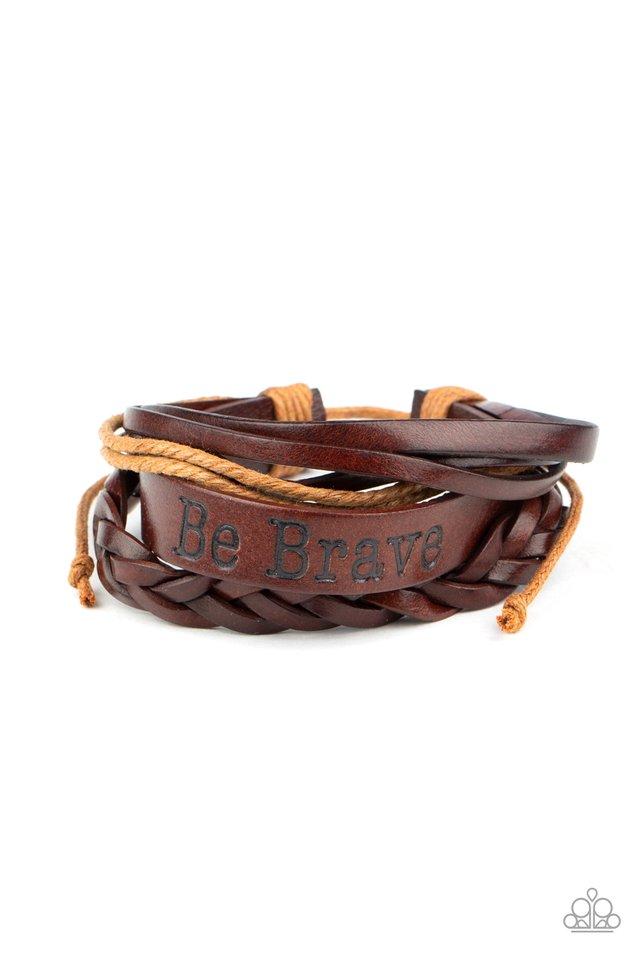 Brave Soul - Brown - Paparazzi Bracelet Image