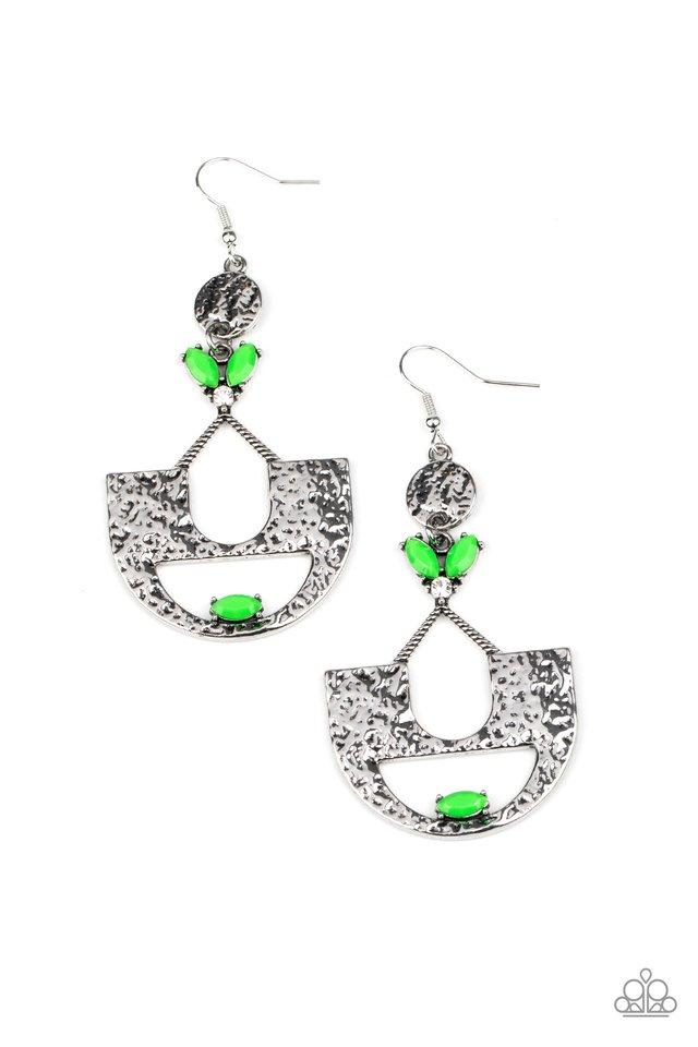 Modern Day Mecca - Green - Paparazzi Earring Image