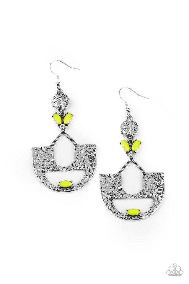 Modern Day Mecca - Yellow - Paparazzi Earring Image