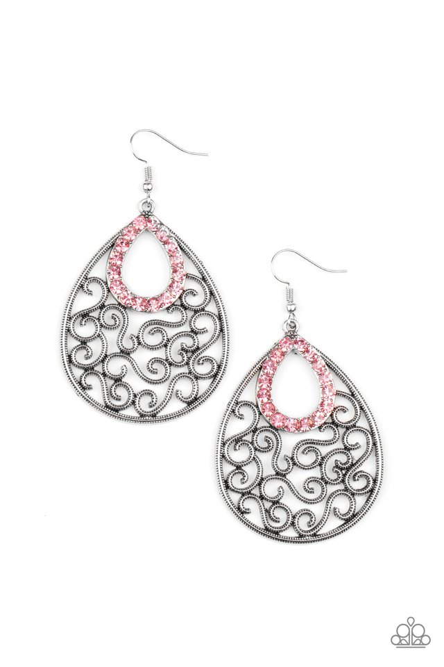 Seize The Stage - Pink - Paparazzi Earring Image