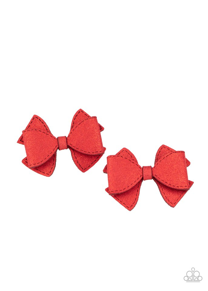 Dont BOW It - Red - Paparazzi Hair Accessories Image