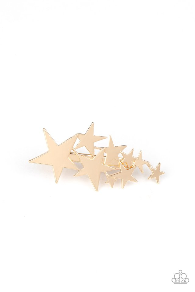 She STAR-ted It! - Gold - Paparazzi Hair Accessories Image