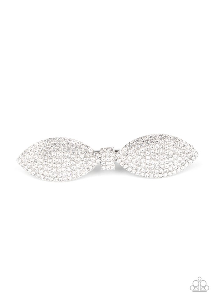 Mind-BOWing Sparkle - White - Paparazzi Hair Accessories Image