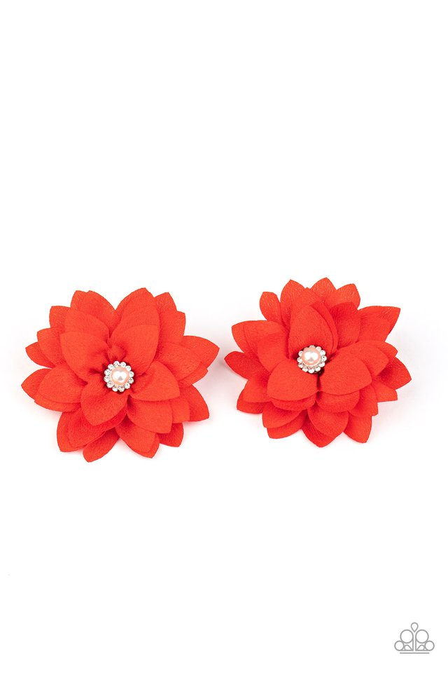 Things That Go BLOOM! - Red - Paparazzi Hair Accessories Image