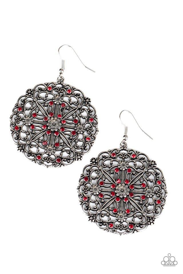 Oh MANDALA! - Red - Paparazzi Earring Image