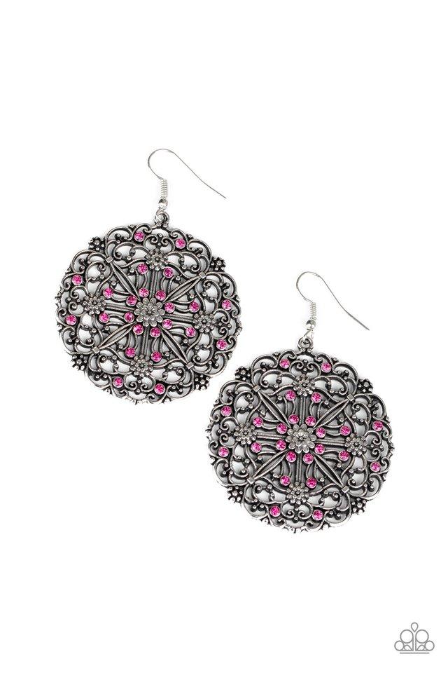 Oh MANDALA! - Pink - Paparazzi Earring Image