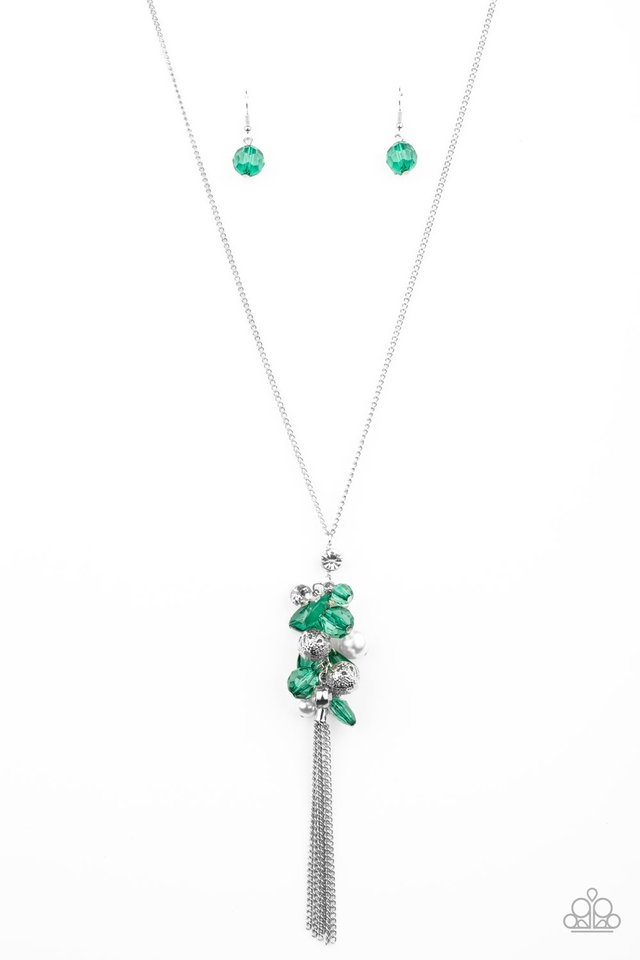 Party Girl Glow - Green - Paparazzi Necklace Image