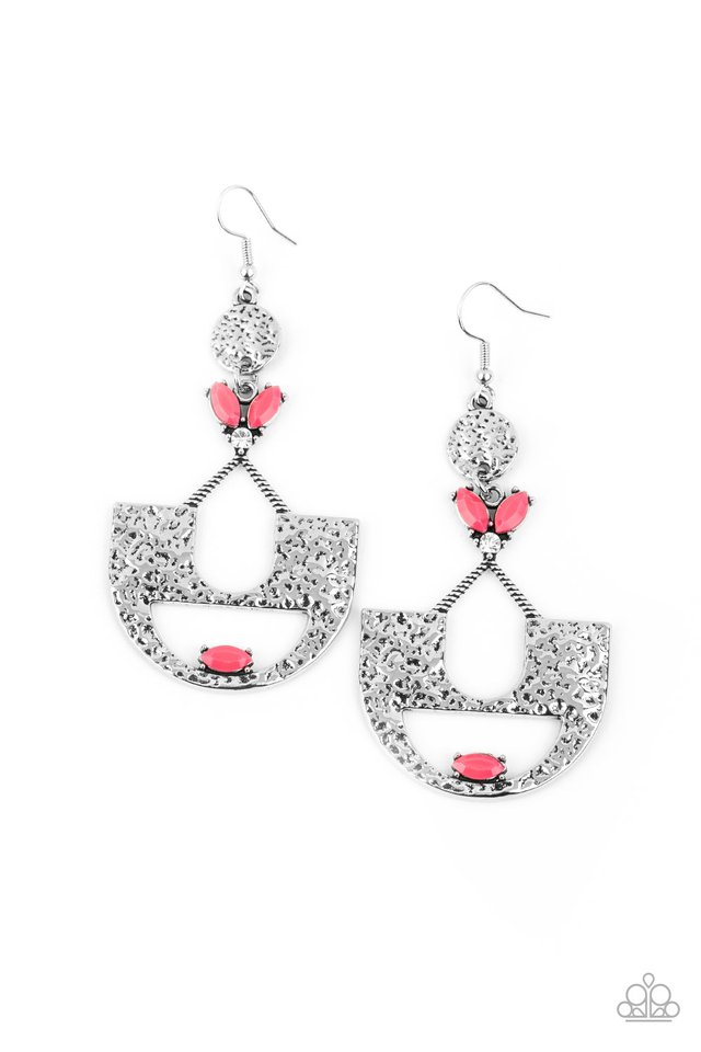 Modern Day Mecca - Pink - Paparazzi Earring Image