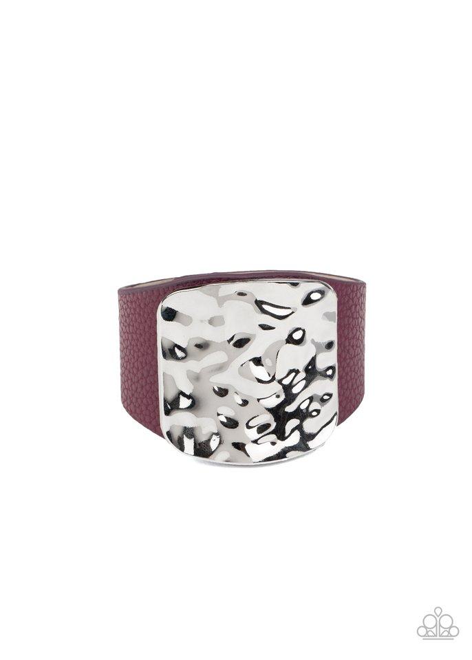 Brighten Up - Purple - Paparazzi Bracelet Image