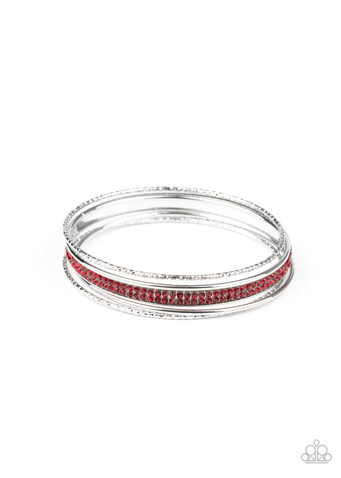 Heap It On - Red - Paparazzi Bracelet Image