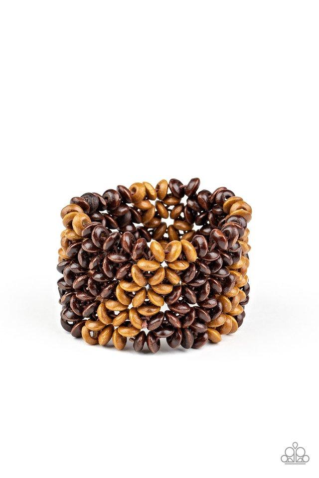 Island Expression - Brown - Paparazzi Bracelet Image