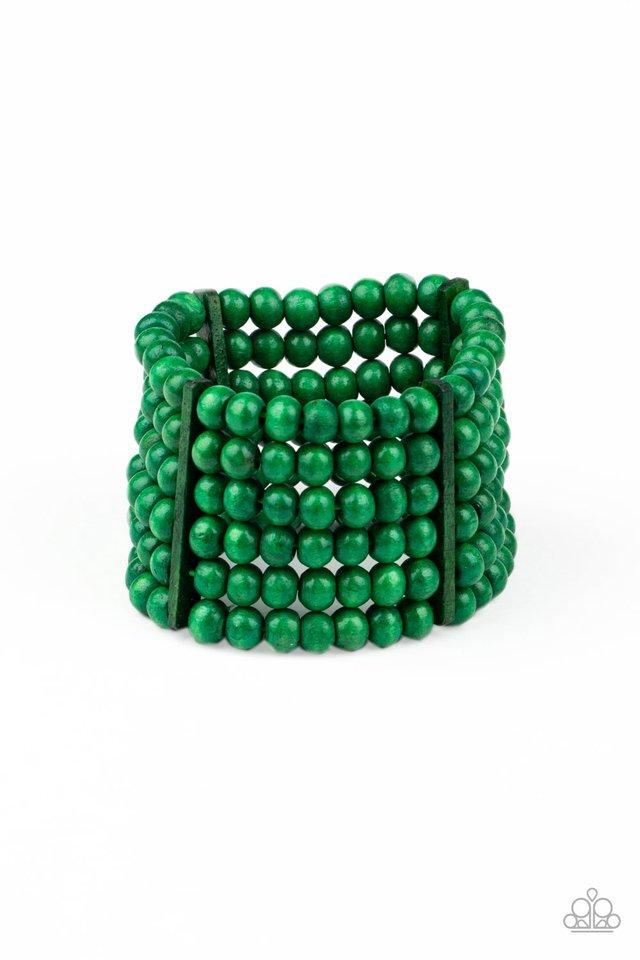 Tanning in Tanzania - Green - Paparazzi Bracelet Image