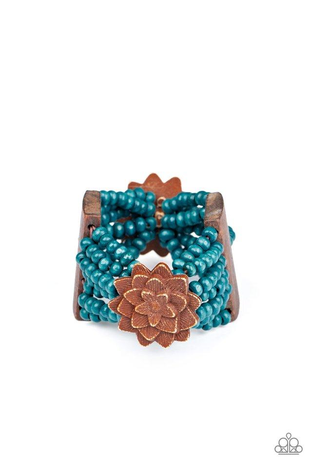 Tropical Sanctuary - Blue - Paparazzi Bracelet Image