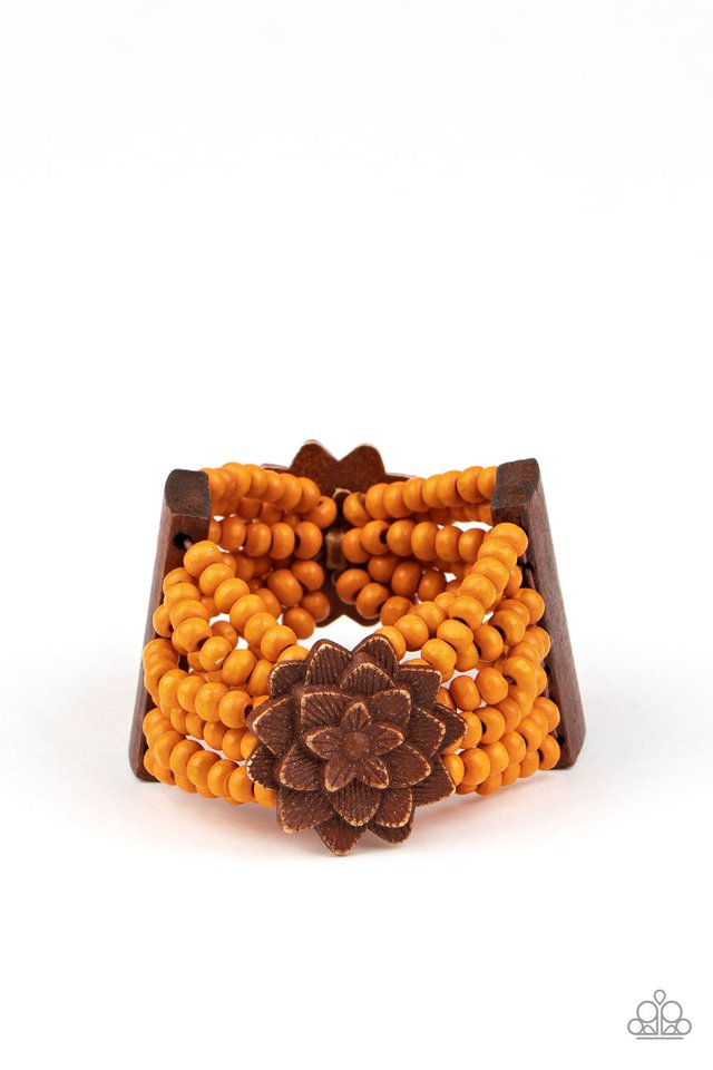 Tropical Sanctuary - Orange - Paparazzi Bracelet Image