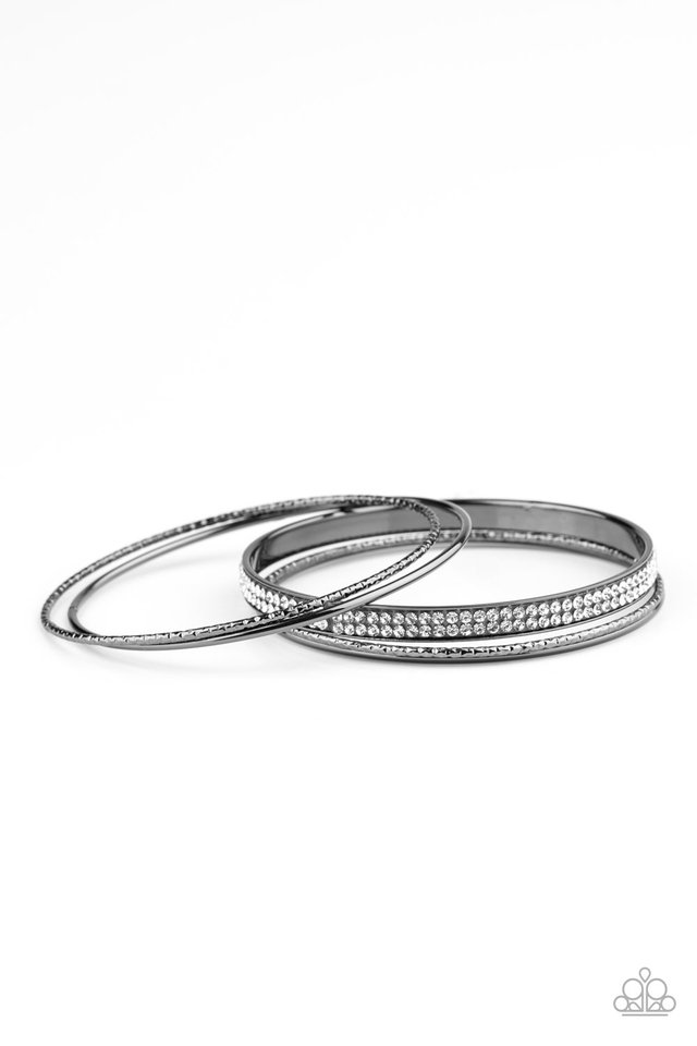 Heap It On - Black - Paparazzi Bracelet Image