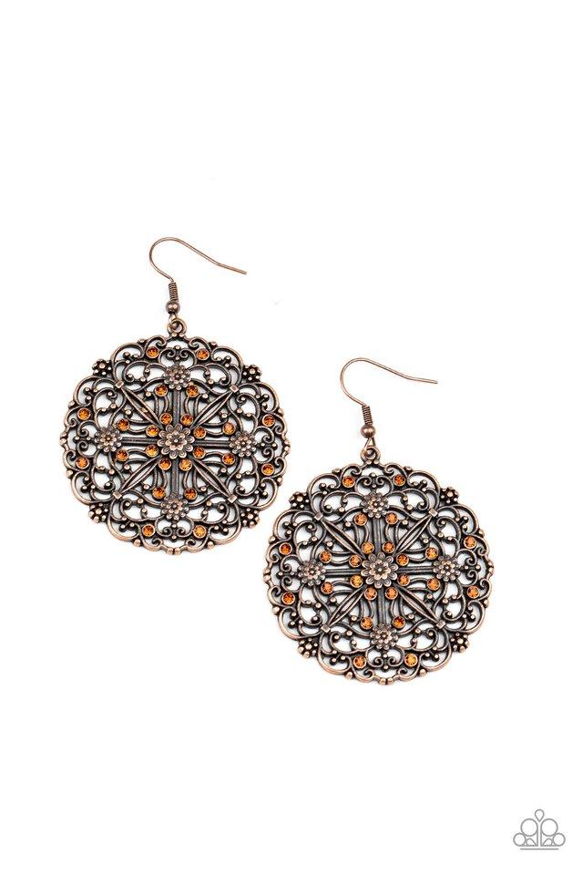 Oh MANDALA! - Copper - Paparazzi Earring Image