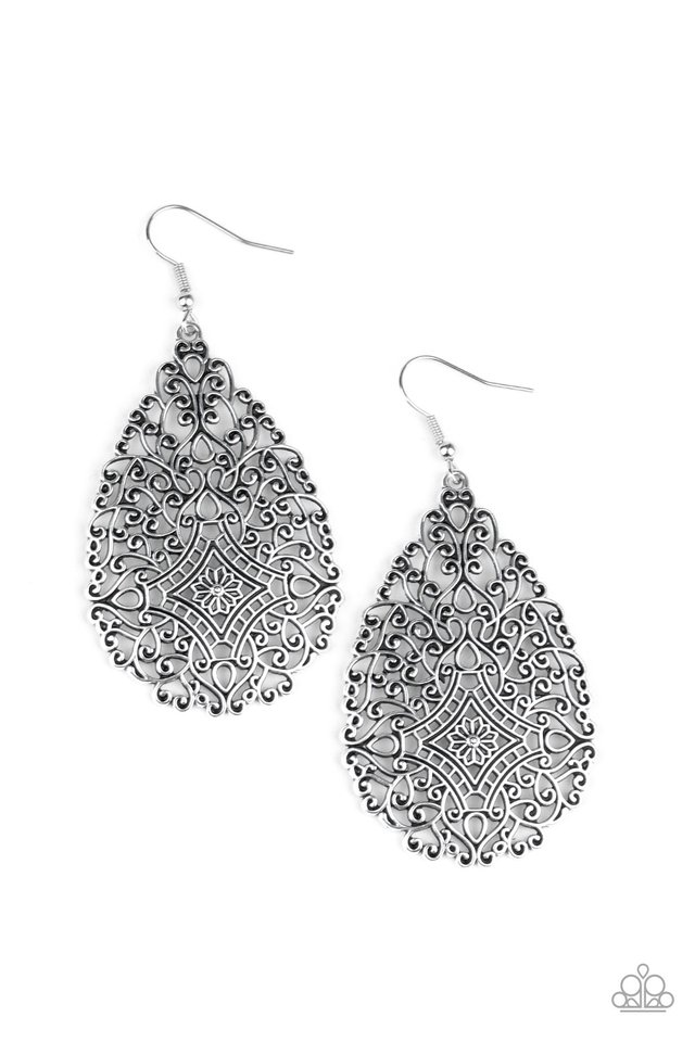 Napa Valley Vintage - Silver - Paparazzi Earring Image