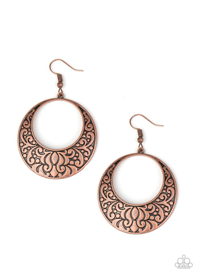 Secret Groves - Copper - Paparazzi Earring Image