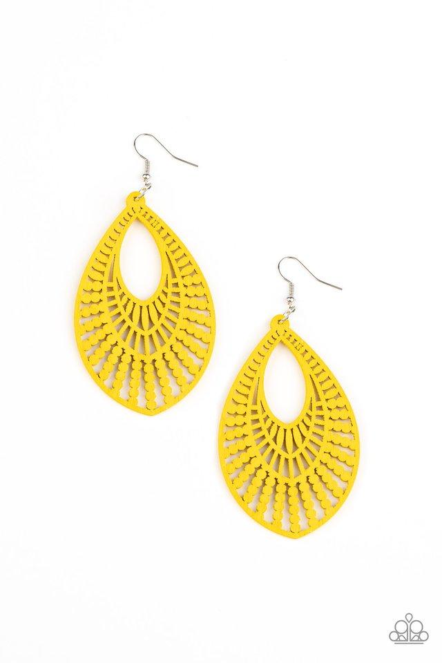 Bermuda Breeze - Yellow - Paparazzi Earring Image