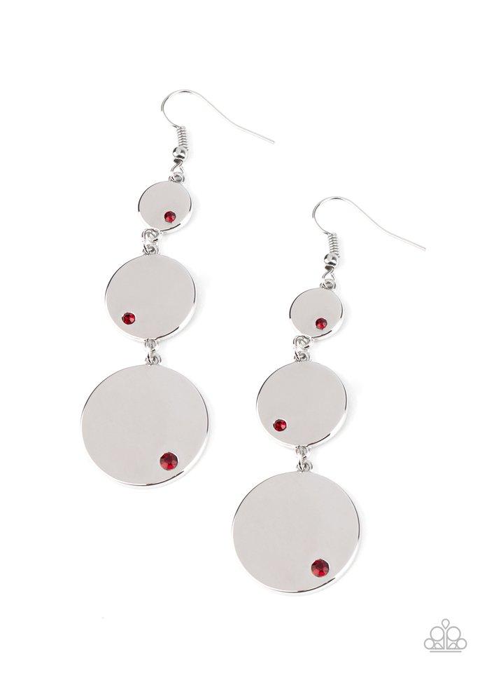 Poshly Polished - Red - Paparazzi Earring Image