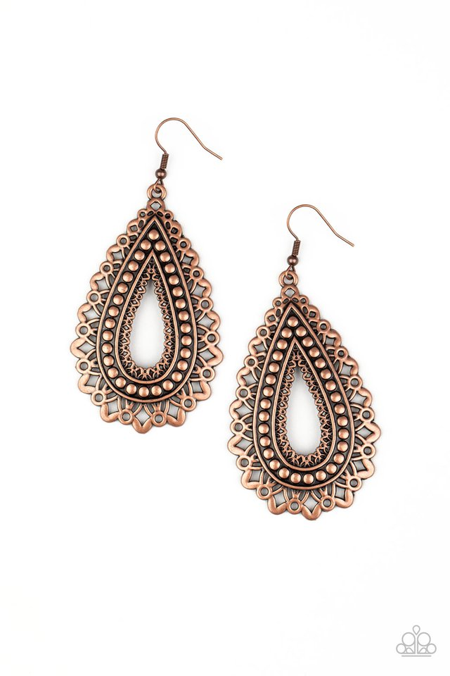 Texture Garden - Copper - Paparazzi Earring Image