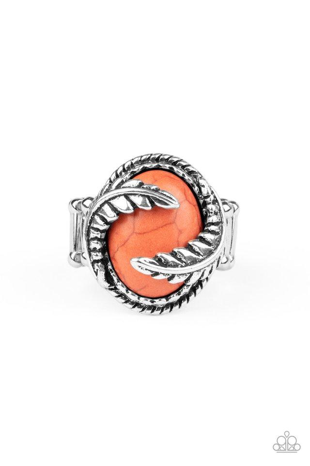 Palm Panache - Orange - Paparazzi Ring Image