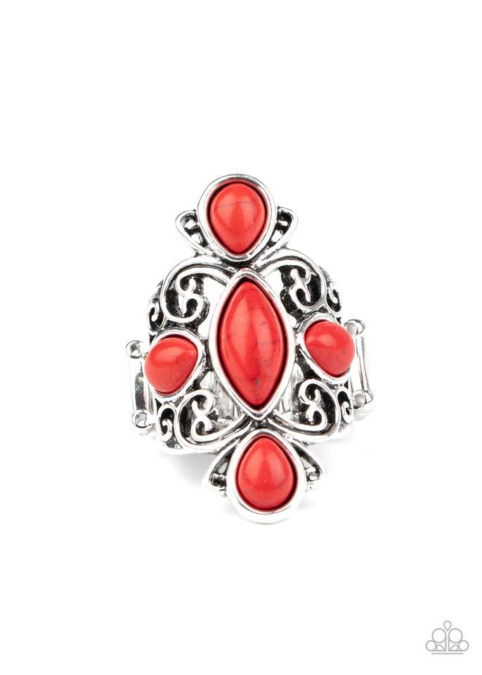 Sahara Sweetheart - Red - Paparazzi Ring Image