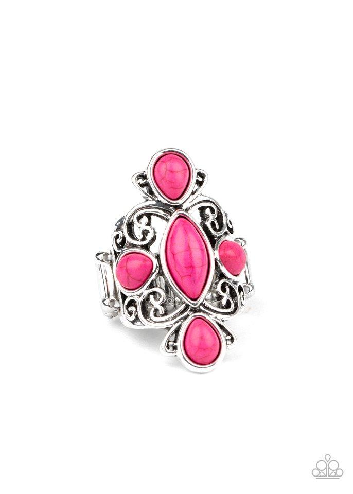 Sahara Sweetheart - Pink - Paparazzi Ring Image