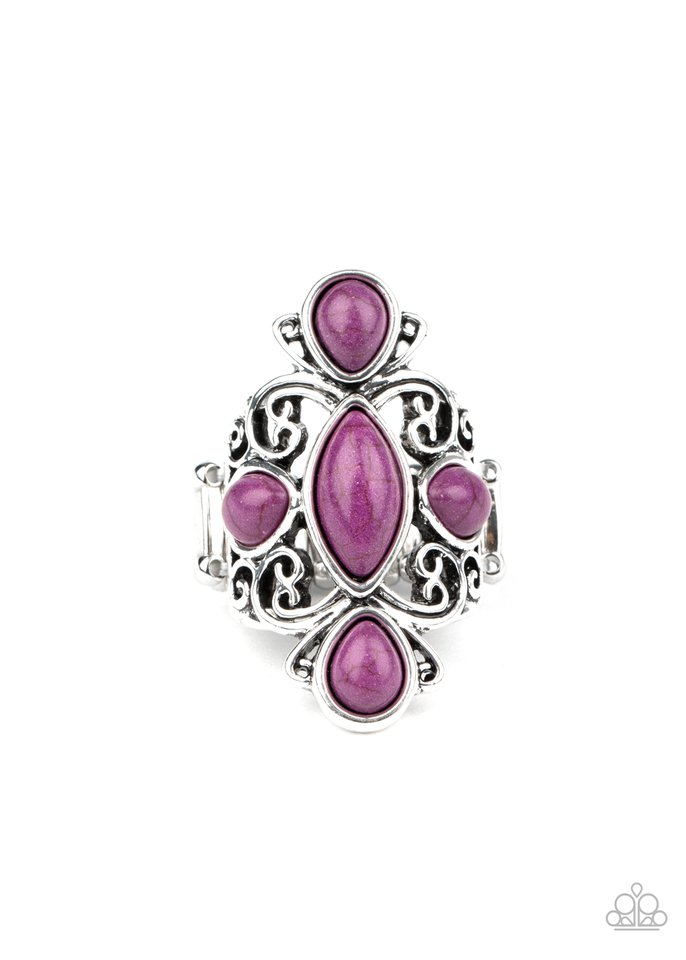 Sahara Sweetheart - Purple - Paparazzi Ring Image