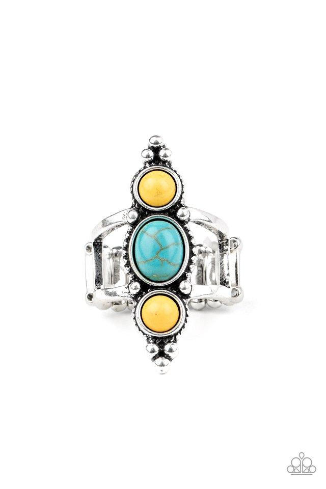 Sahara Sage - Yellow - Paparazzi Ring Image
