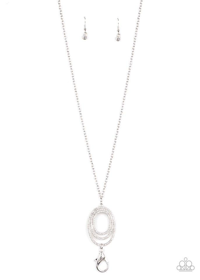 Dizzying Dazzle - White - Paparazzi Necklace Image
