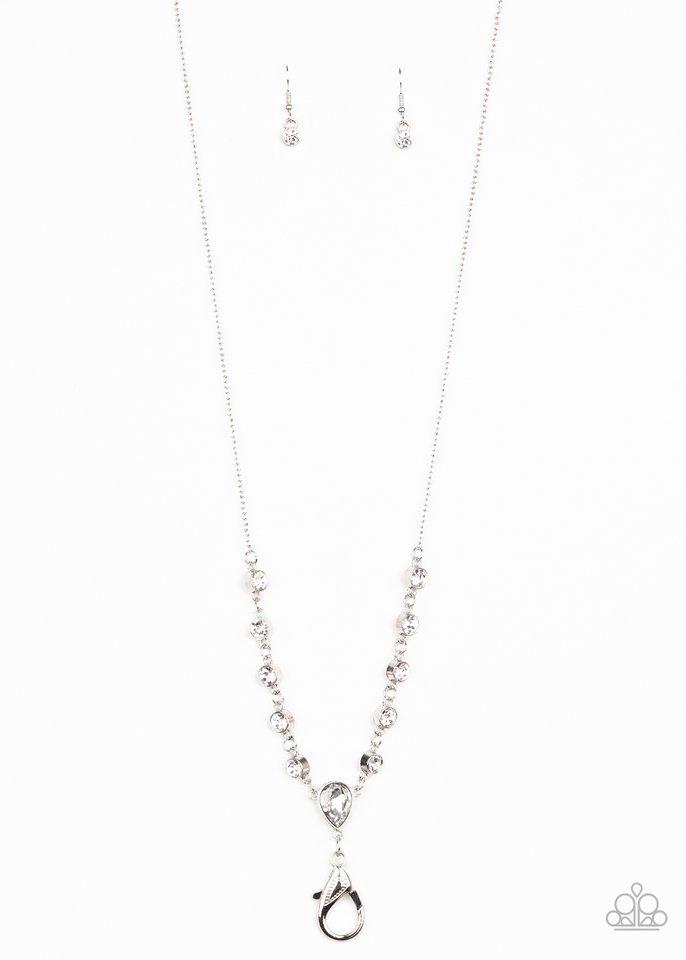 Unfathomable Fierceness - White - Paparazzi Necklace Image