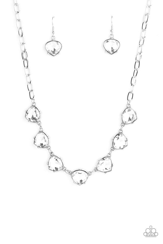 Star Quality Sparkle - White - Paparazzi Necklace Image